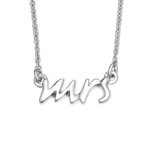 "Silver Kate Spade Say Yes ""mrs"" Necklace"